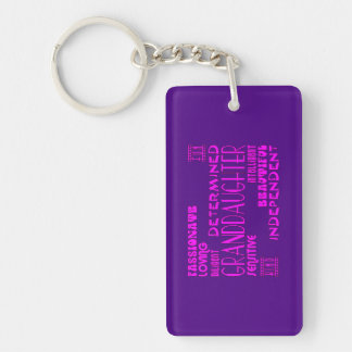 Granddaughters Birthday Party Christmas Qualities Keychain