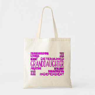 Granddaughters Birthday Party Christmas Qualities Tote Bag