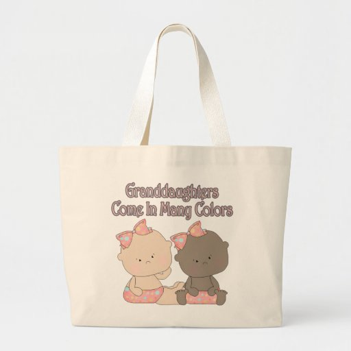 granddaughters come in many colors adoption design jumbo tote bag