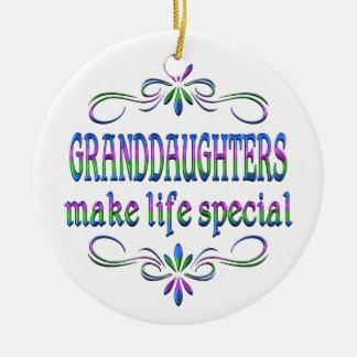Granddaughters Make Life Special Ceramic Ornament