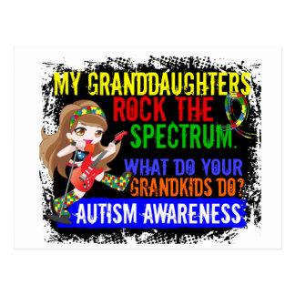 Granddaughters Rock The Spectrum Autism Postcard