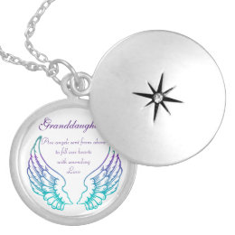 Granddaughters Silver Plated Round Locket