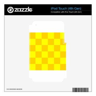 Grande a cuadros - amarillo amarillo y oscuro calcomanías para iPod touch 4G