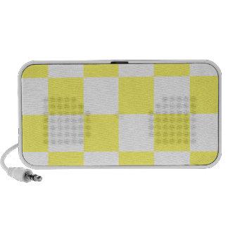 Grande a cuadros - blanco y limón iPod altavoces