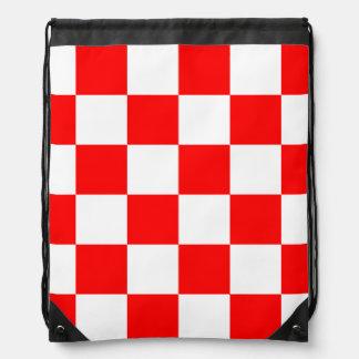 Grande a cuadros - blanco y rojo mochilas