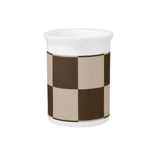 Grande a cuadros - Brown marrón claro y oscuro Jarrón