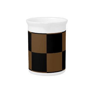 Grande a cuadros - Brown negro y oscuro Jarron