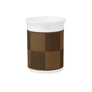 Grande a cuadros - Brown y Brown oscuro Jarra Para Bebida