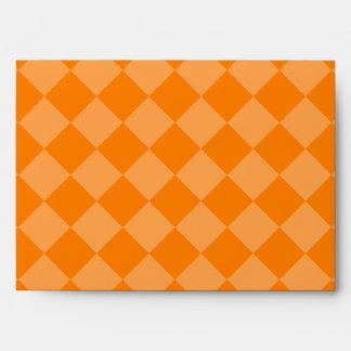 Grande a cuadros de Diag - anaranjado y anaranjado Sobre