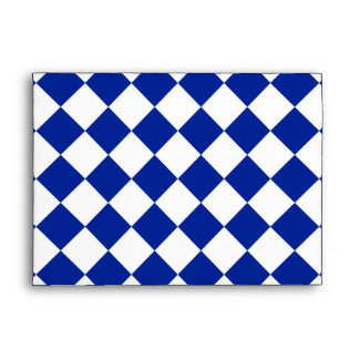 Grande a cuadros de Diag - azul blanco e imperial Sobres