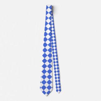 Grande a cuadros de Diag - azul blanco y real Corbatas Personalizadas