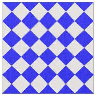 Grande a cuadros de Diag - blanco y azul Telas