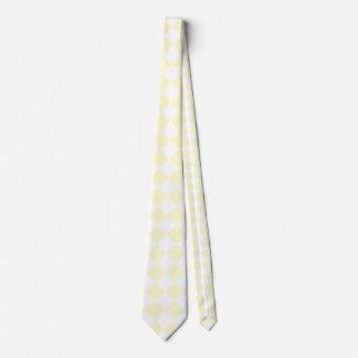 Grande a cuadros de Diag - blanco y crema Corbatas Personalizadas