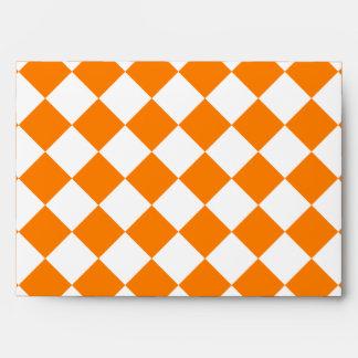 Grande a cuadros de Diag - blanco y naranja Sobre