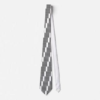 Grande a cuadros de Diag - blanco y negro Corbata