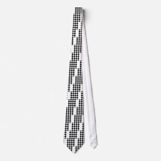 Grande a cuadros de Diag - blanco y negro Corbatas Personalizadas