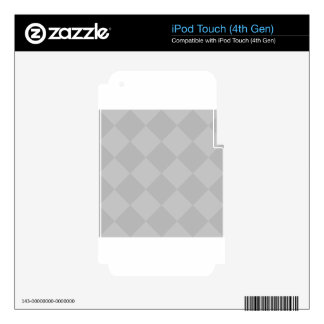 Grande a cuadros de Diag - gris y gris claro Skins Para iPod Touch 4G
