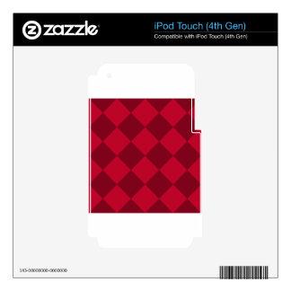 Grande a cuadros de Diag - rojo y rojo oscuro iPod Touch 4G Calcomanías