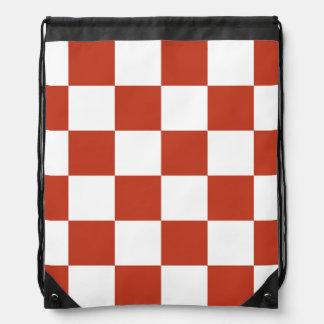 Grande a cuadros - rojo en colores pastel blanco y mochilas
