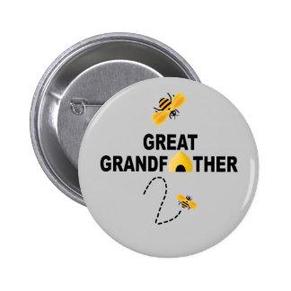 Grande - abuelo a ser botón pin redondo de 2 pulgadas