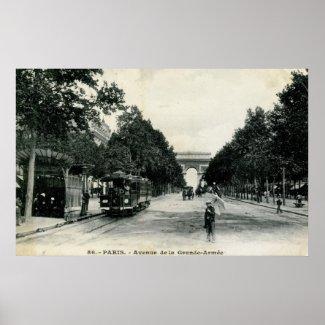 Grande Armée Paris France 1908 Vintage print