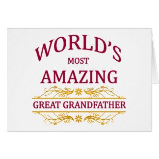 Grande asombroso - abuelo tarjeta de felicitación