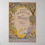 Grande Burdeos 1918 de los fleurs del DES del kerm Posters