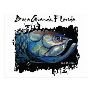 Grande cabeza azul del tarpón de GCG Boca Postales