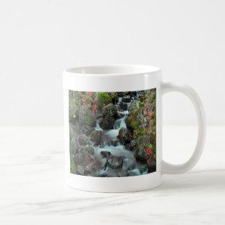 grande caída y paz del agua del tendón de la casca tazas de café
