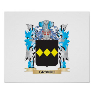 Grande Coat of Arms - Family Crest Posters