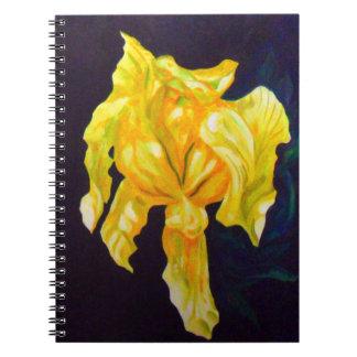 Grande CUADERNO del iris amarillo