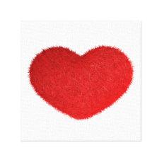 Grande Cuore Rosso. Canvas Print