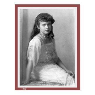 Grande duquesa Anastasia Nikolaevna de Rusia 1914 Postal