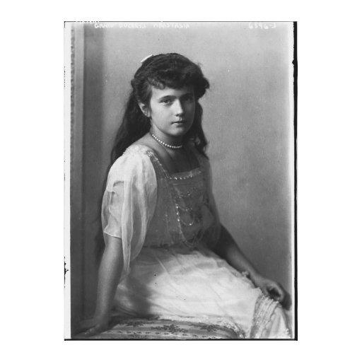 Grande duquesa Anastasia Nikolaevna de Rusia Impresiones En Lona Estiradas