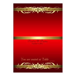 Grande duquesa rojo y tabla Placecard de la voluta Tarjetas De Visita Grandes