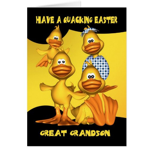 Grande - el nieto, tarjeta de pascua con la divers