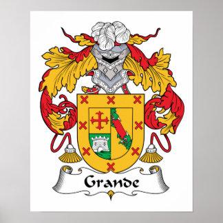 Grande escudo de la familia posters