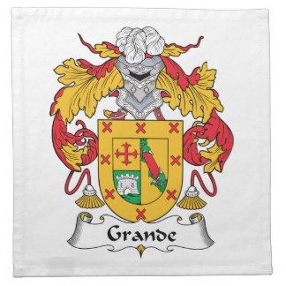 Grande escudo de la familia servilletas de papel