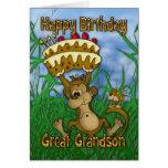 Grande - feliz cumpleaños del nieto con la felicitaciones