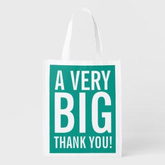 Grande gracias bolso de compras reutilizable del bolsas para la compra