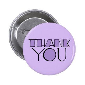Grande gracias botón púrpura pin