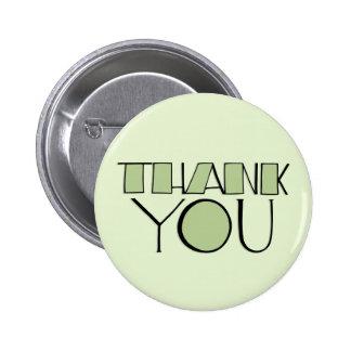 Grande gracias botón verde pins