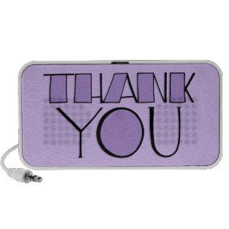 Grande gracias los altavoces púrpuras del Doodle