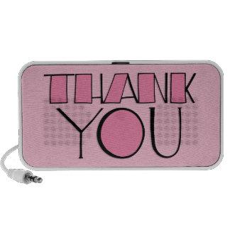 Grande gracias los altavoces rosados del Doodle