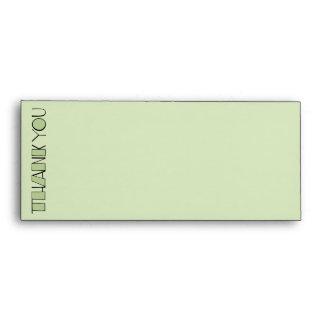 Grande gracias sobre verde del papel con membrete