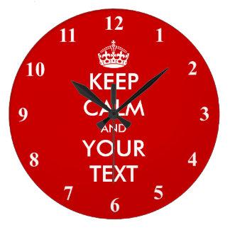 Grande guarde el diseño adaptable tranquilo del re reloj redondo grande