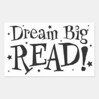 Grande ideal;  ¡Leído! Pegatina Rectangular