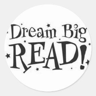 Grande ideal;  ¡Leído! Pegatina Redonda