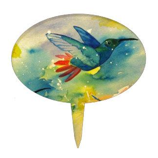 ¡Grande ideal Pintura de la acuarela del colibrí Figuras Para Tartas
