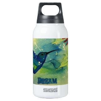 ¡Grande ideal! Pintura de la acuarela del colibrí Botella Isotérmica De Agua